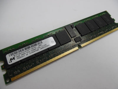 Micron 8GB DDR2 PC5300(667) REG ECC 1.8v 2RX4 240P 1024MX72 DDP 1GX4 Server Memory - MT36HTS1G72PY-667A1.