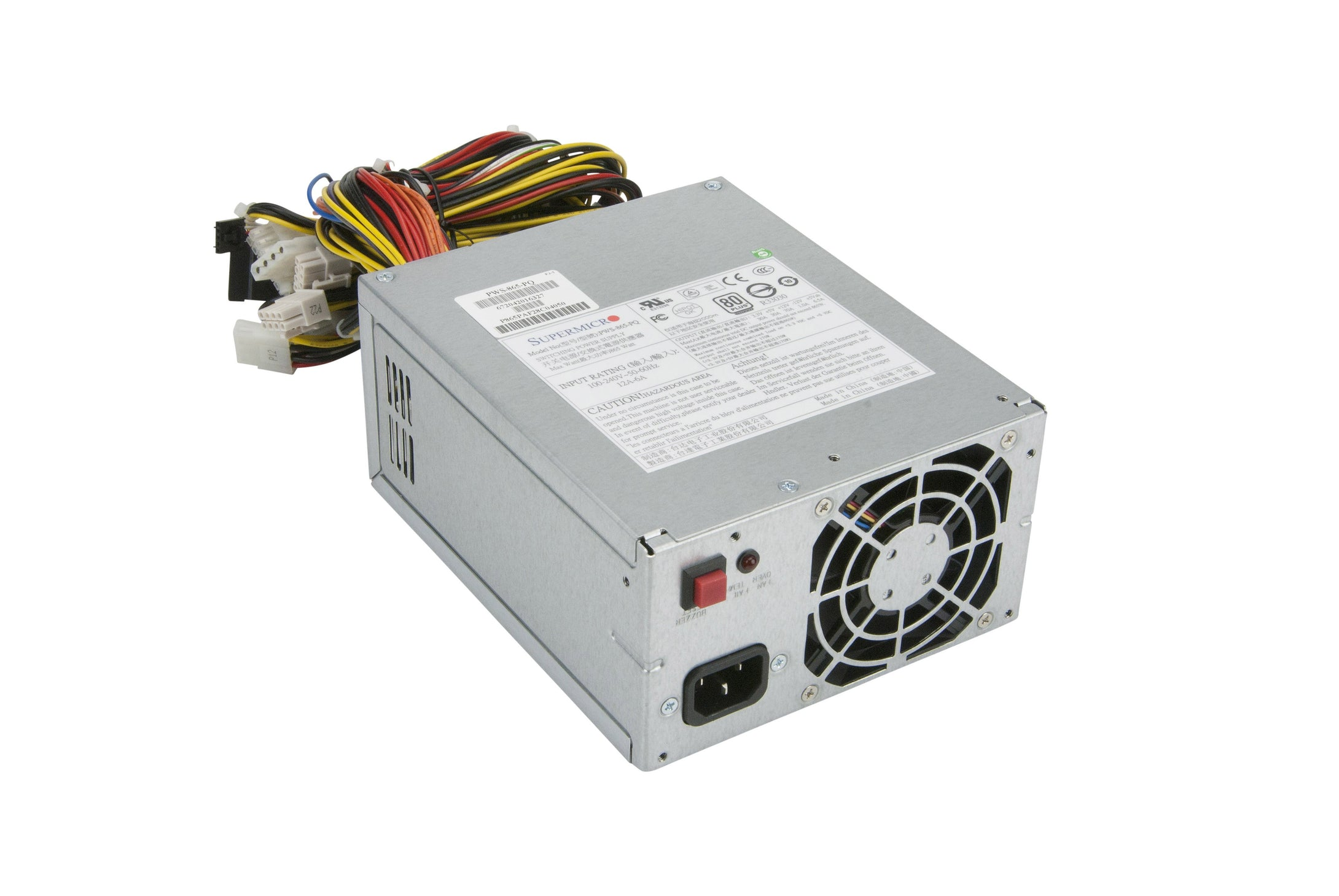 Supermicro 865W (PWS-865-PQ) EPS12V Super Quiet Server Power Supply - PWS-865-PQ