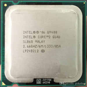 Intel Q9400 2.66GHz Core 2 Quad 6MB Cache 1333MHz FSB Yorkfield QC Socket LGA 775 (SLB6B) Desktop Processor