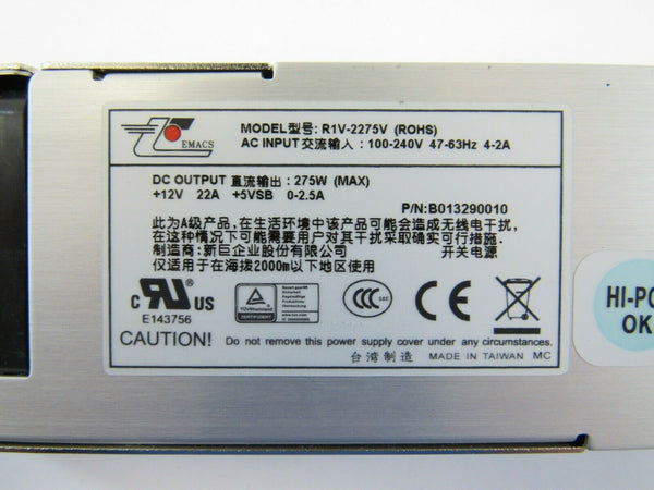 Zippy Emacs R1V-2275V 275W 1U Server Power Supply