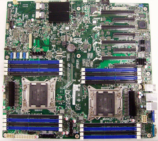 Intel S2600IP4 LGA2011 Intel C600 Chipset Server Motherboard DDR3 SAS/SATA Video Gigabit LAN (AA# G20993-303) Motherboard including IO Shield.