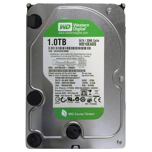 Western Digital 1TB 7200rpm  32MB Cache SATA II Desktop Storage Green Power - WD10EADS