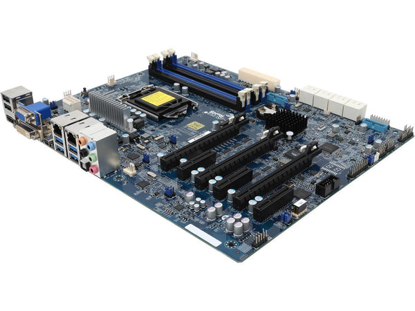 Supermicro X10SAT Intel C226 Express PCH Xeon E3-1200 v3/ 4th Gen Core i7/i5/i3/ Pentium/ Celeron Processors Support Single Socket H3 LGA-1150 ATX Workstation Motherboard