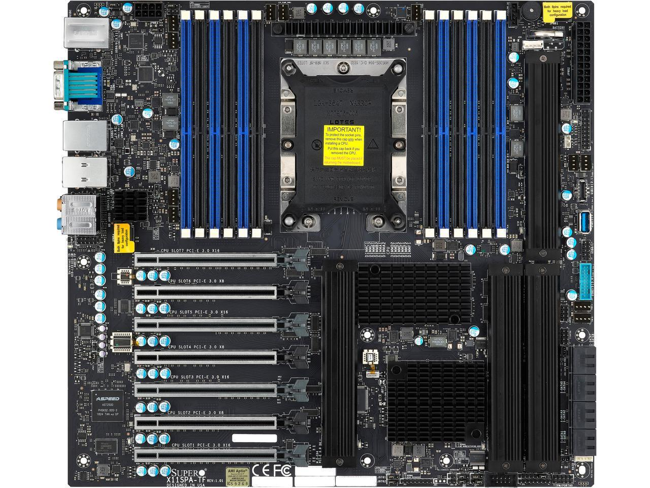 Supermicro X11SPA-TF Socket LGA 3647 Intel C621 SATA 6Gb/s Extended ATX Intel Server Motherboard