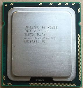 Intel Xeon X5680 3.33GHz 6 Core 6.4GT/s 12MB L3 Cache Socket LGA1366 (SLBV5) Server Processor