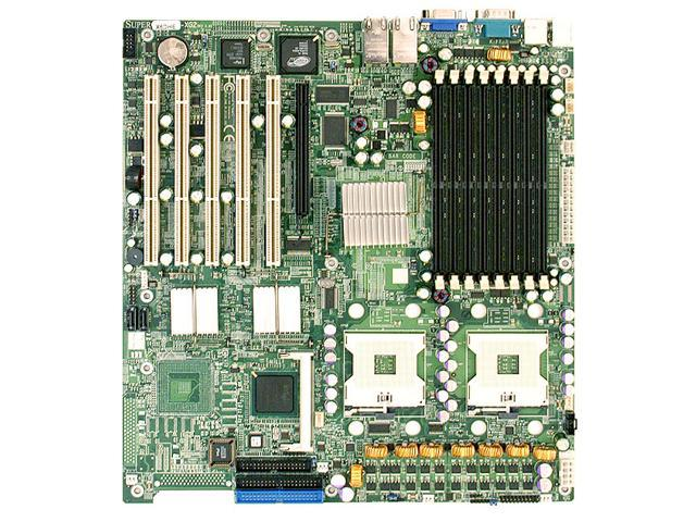 Supermicro X6DHE-XG2 Dual Intel Xeon Intel E7520 Socket 604 FSB 800MHz DDR2 Video 2GbE Lan SATA RAID eATX Server Motherboard