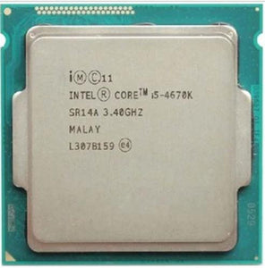 Intel Core i5-4670K Haswell 3.4GHz LGA 1150 84W QC Intel HD Graphics (SR14A) Desktop Processor