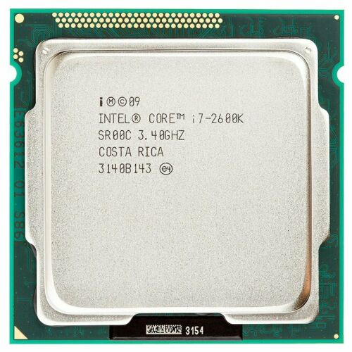 Intel Core i7-2600K Sandy Bridge 3.4GHz (3.8GHz Turbo Boost) 4 x 256KB L2 Cache 8MB L3 Cache LGA 1155 95W QC (SR00C) Desktop Processor