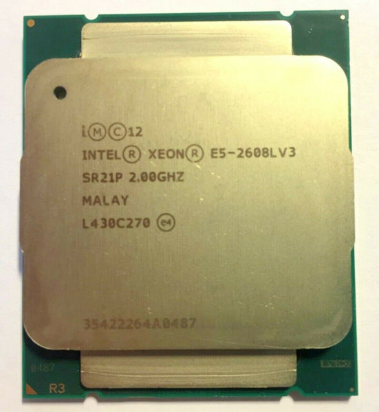 Intel Xeon E5-2608LV3 2.00GHz 6Core Socket LGA 2011 (SR21P) Server Processor.
