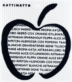 Apple with text