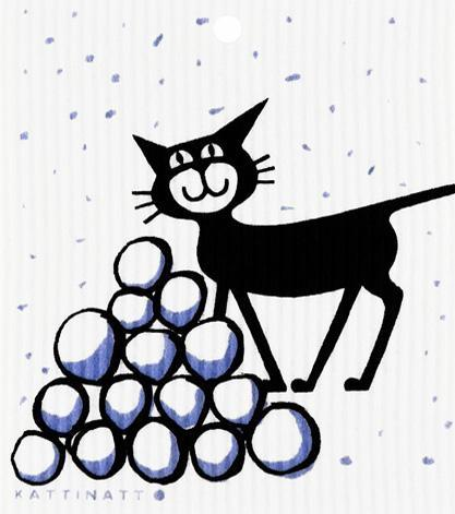 Cat in Snow -  swedethings-cad