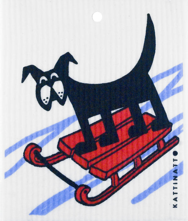 Dog on Sleigh -  swedethings-cad