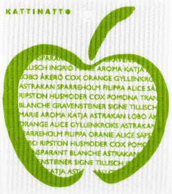 Green Apple with Text