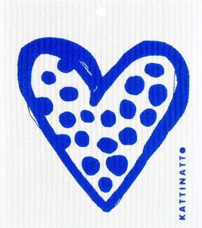 Heart Outline Dots Blue -  swedethings-cad