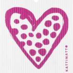 Heart Outline Dots Cerise -  swedethings-cad