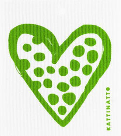 Heart Outline Dots Green