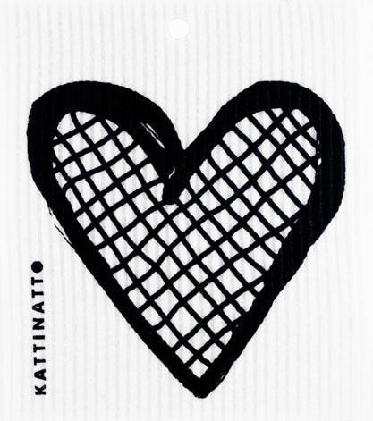 Heart Outline Lattice Black -  swedethings-cad