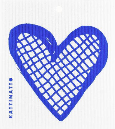 Heart Outline Lattice  Blue -  swedethings-cad