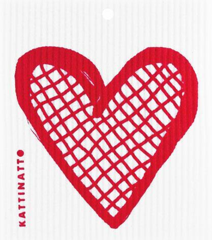 Heart Outline Lattice  Red -  swedethings-cad