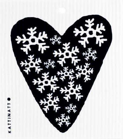 Heart Snowflake black -  swedethings-cad