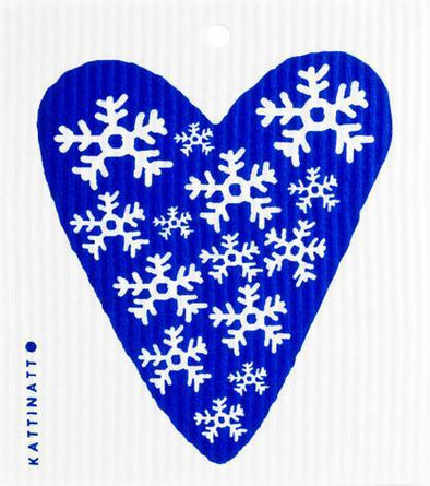 Heart Snowflake Blue -  swedethings-cad