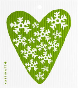 Heart Snowflake Green