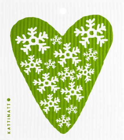 Heart Snowflake Green -  swedethings-cad