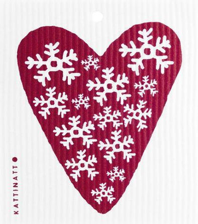 Heart Snowflake Red -  swedethings-cad