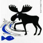 Moose Catches Fish -  swedethings-cad