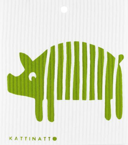 Striped Pig Green -  swedethings-cad