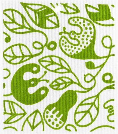 swedethings-cad dishcloth Vines Green