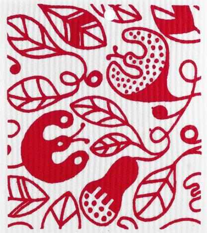 swedethings-cad dishcloth Vines Red