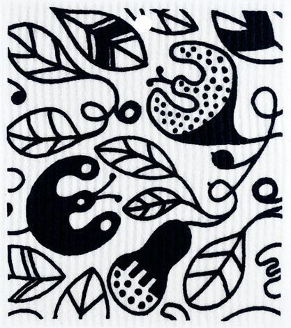swedethings-cad dishcloths Vines Black
