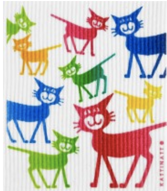 swedethings-cad Medium dishcloths CATS multi