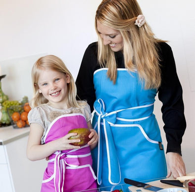 Apron: Cupcake Blue with White Banding -  swedethings-cad