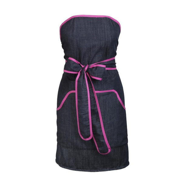 Apron: Cupcake Denim with Pink Banding -  swedethings-cad
