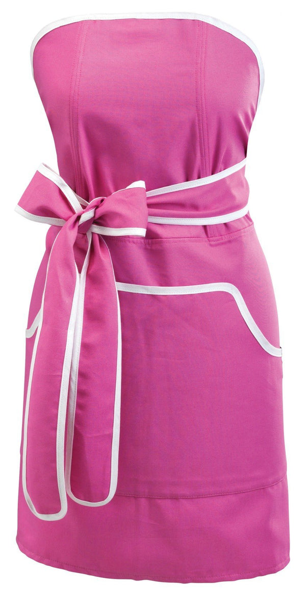 Apron: Cupcake Pink with White Banding -  swedethings-cad