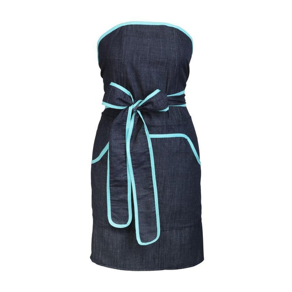 Kids Apron: Mini Cupcake Denim with Blue Banding -  swedethings-cad