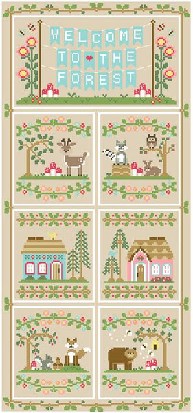 Welcome to the Forest 6 - Forest Fox and Friends Cross Stitch Pattern - Blessed Backyard