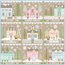 Glitter Village House #3 Cross Stitch Pattern | Country Cottage Needleworks - Blessed Backyard