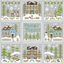Frosty Forest 5 - Bluebird Cabin Cross Stitch Pattern - Blessed Backyard