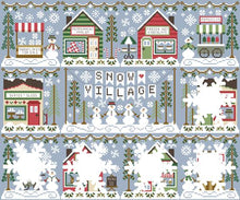 Snow Village 2 - Skate & Sled Shop Cross Stitch Pattern | Country Cottage Needleworks - Blessed Backyard
