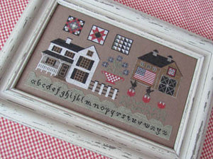 American Farmhouse Cross stitch Pattern | The Scarlett House - Blessed Backyard