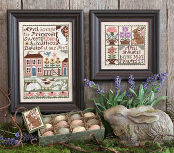 April Cross Stitch Pattern | Prairie Schooler - Blessed Backyard