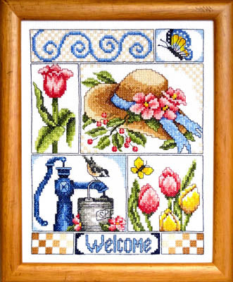 Beautiful Blessings Cross Stitch Pattern | Bobbie G. Designs - Blessed Backyard