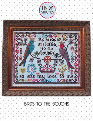 Birds to the Boughs Cross Stitch Pattern | Lindy Stitches - Blessed Backyard