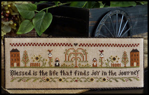 Blessed is the Life Cross Stitch Pattern | Little House Needleworks - Blessed Backyard