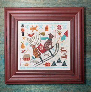 Bringing Christmas Cross Stitch Pattern | Carriage House Samplings - Blessed Backyard