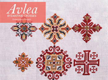 Byzantine Crosses Cross Stitch Pattern | Avlea Mediterranean Folk Embroidery - Blessed Backyard
