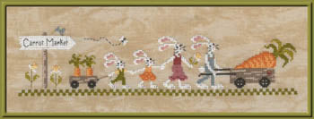 Carrot Market Cross Stitch Pattern | Jardin Prive - Blessed Backyard